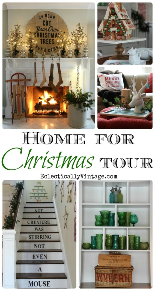 http://eclecticallyvintage.com/2014/12/christmas-house-tours-christmas-decorating-ideas/