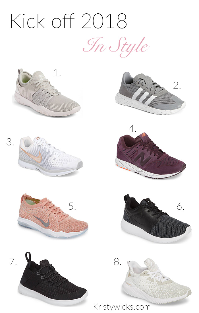 4 Must Have Athletic Shoes for 2018 Kristy Wicks