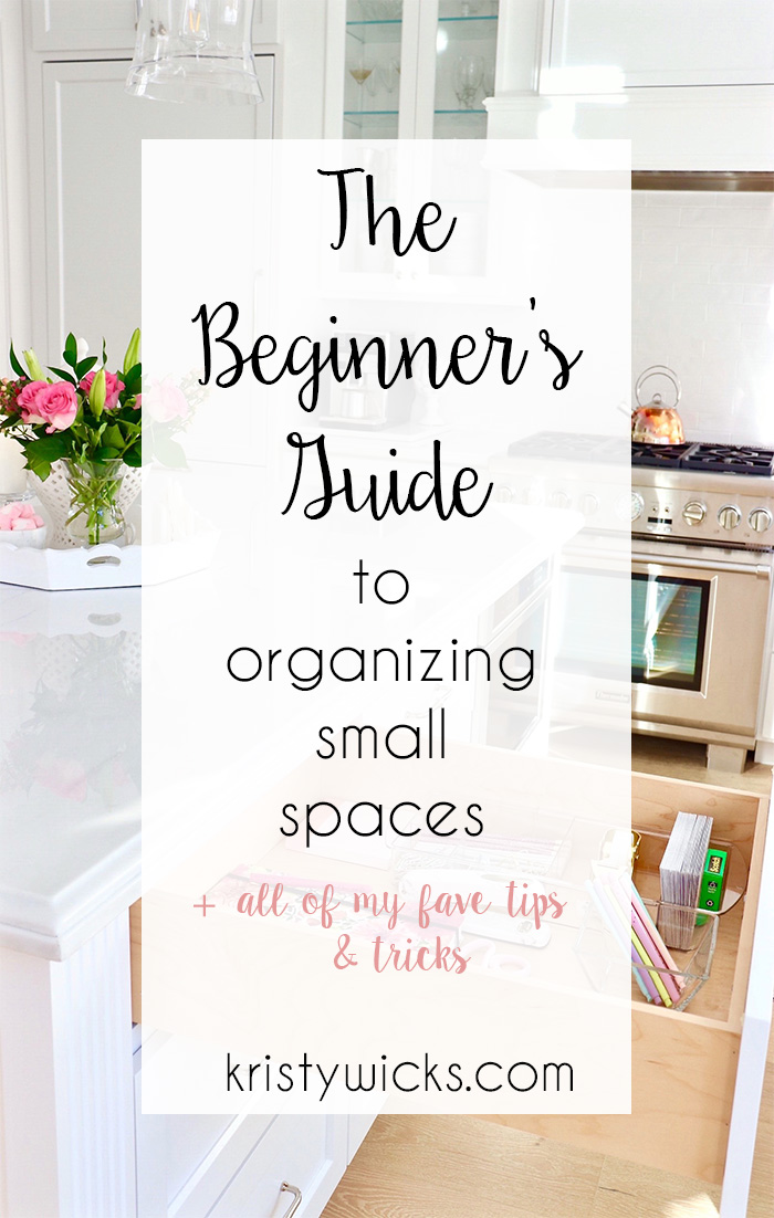The best tips for Organizing those tricky small spaces like the Junk Drawer, Linen Closet, and Closet!