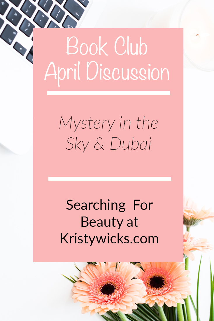 April Book Club Discussion Kristy Wicks