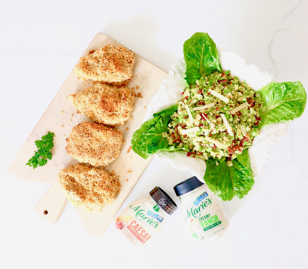Ranch Chicken and Brussels Sprouts Caesar Salad Recipe