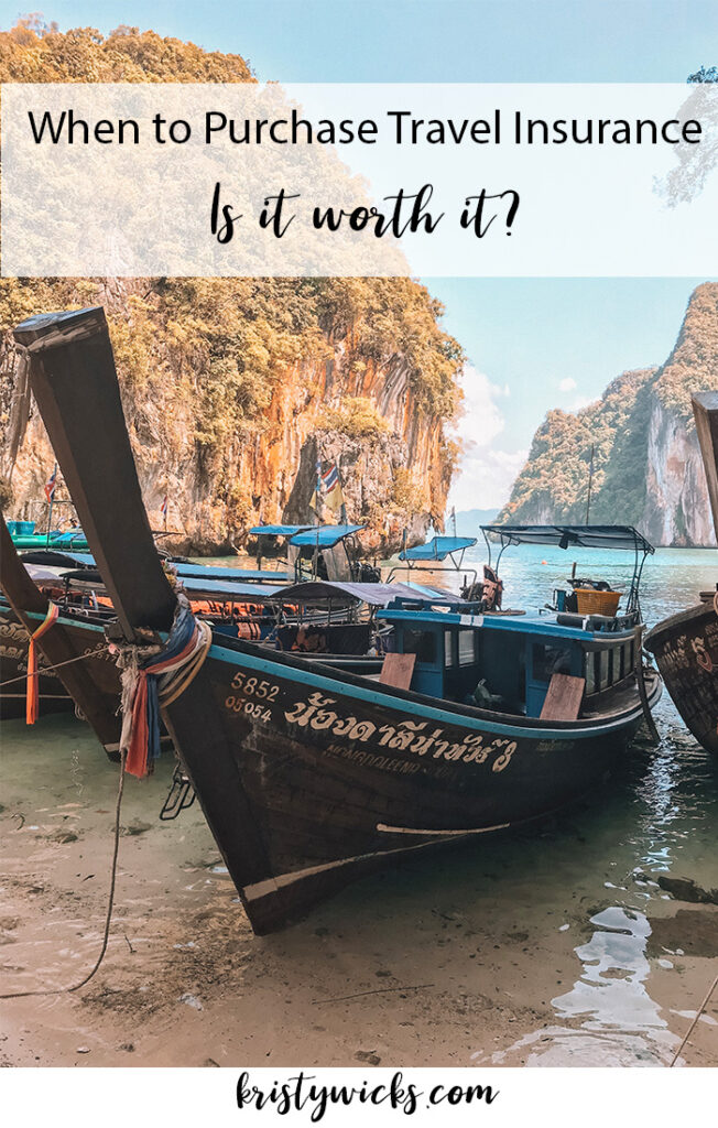 When to Purchase Travel Insurance - Is It Worth It? | We deep dive into everything travel insurance covers and decide if it's worth the money. | World Nomads Review | Kristy Wicks