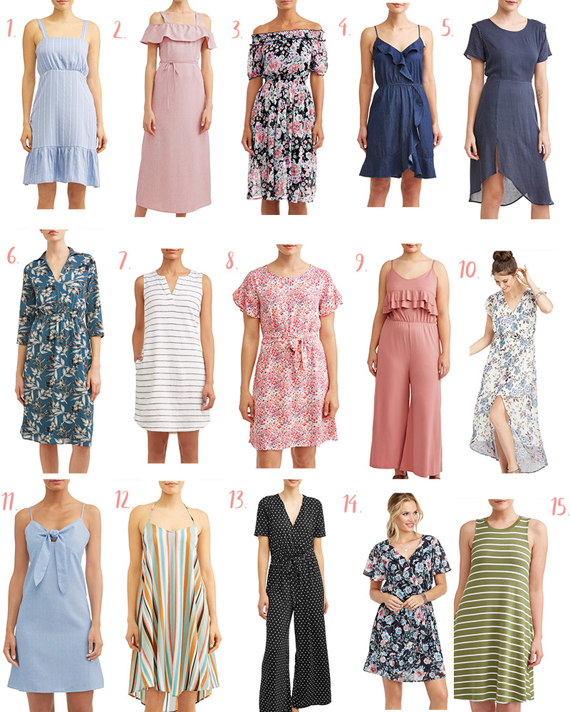 Affordable Spring Fashion from Walmart - Best dresses.. almost all are under $30! Kristy Wicks