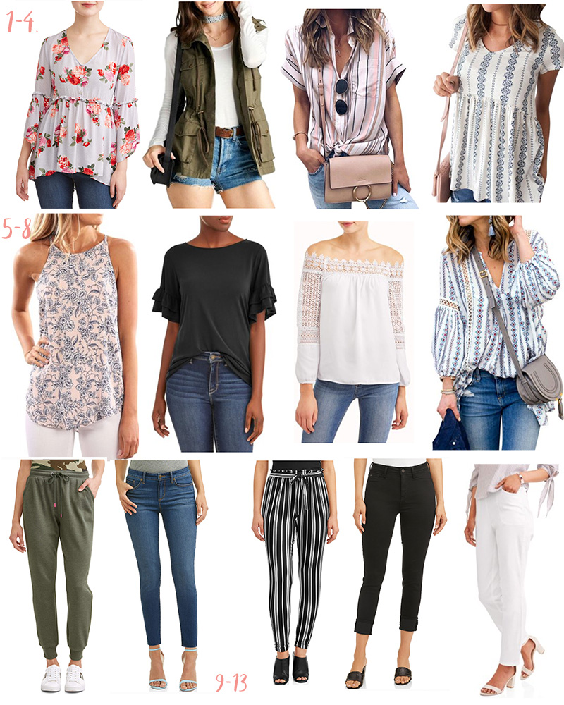 Affordable Spring Fashion from Walmart - Loving all of these outfit options. | Kristy Wicks