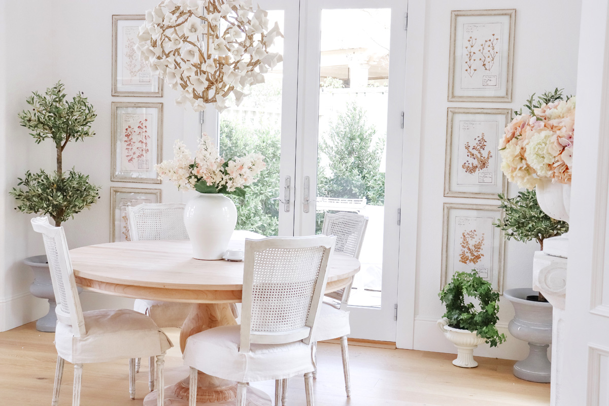 New French Inspired Pedestal Dining Table | Kristy Wicks.
