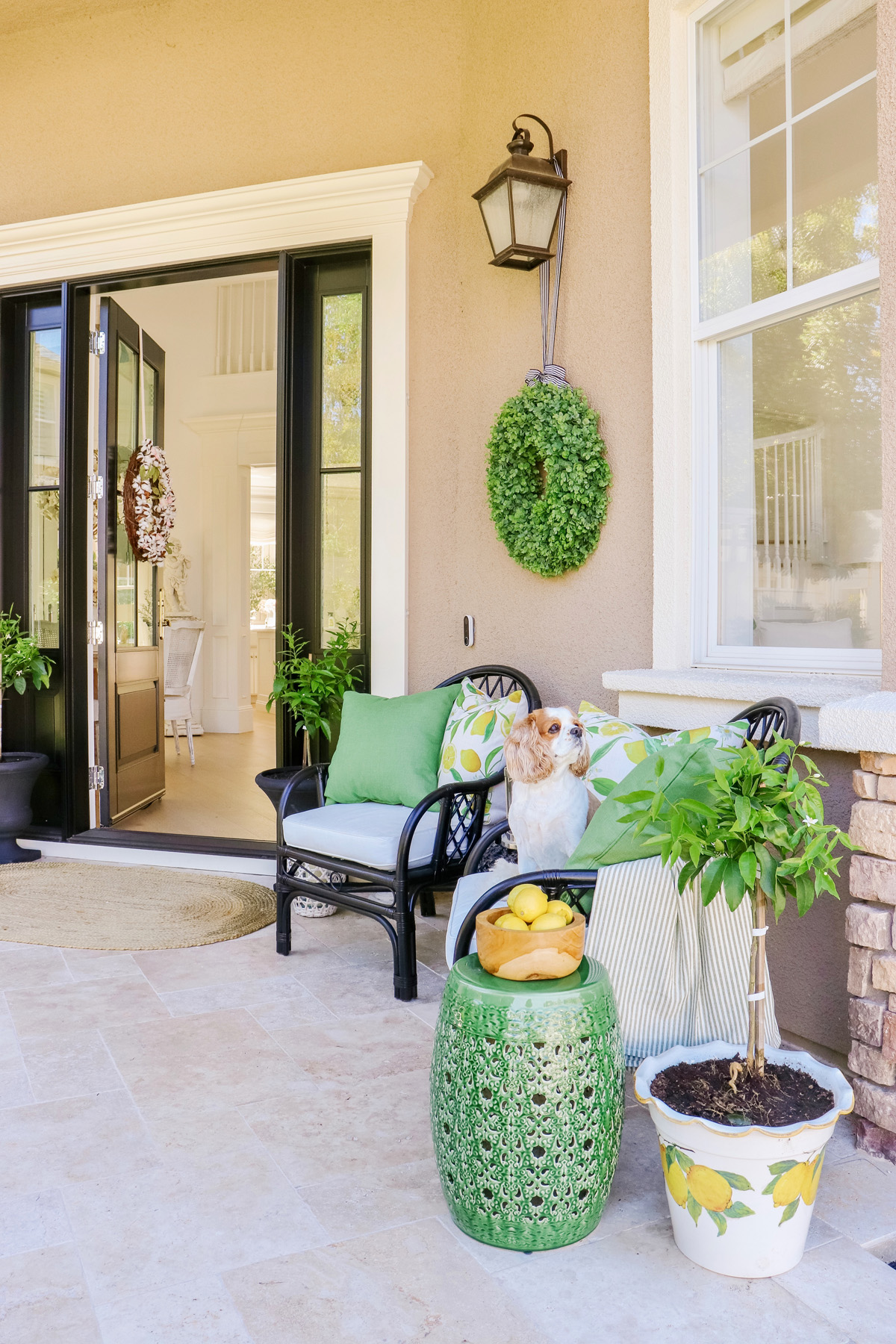 Front Porch Summer Refresh - All the cutest green & lemon themed outdoor decor. | Kristy Wicks