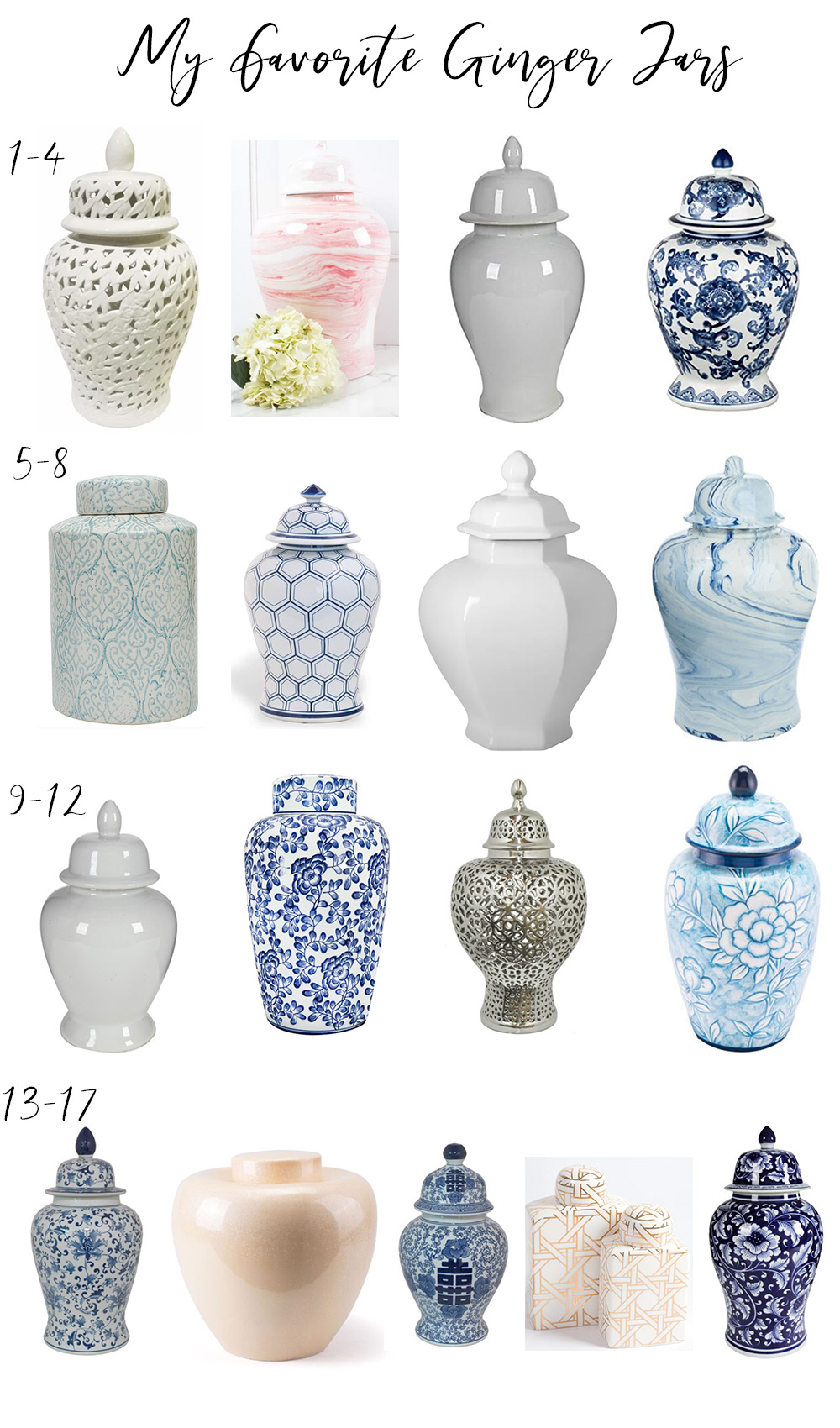 Best of Ginger Jars | I rounded up the CUTEST and top ginger jars/temple jars/lanterns to snag for your home decor this year at all price points.