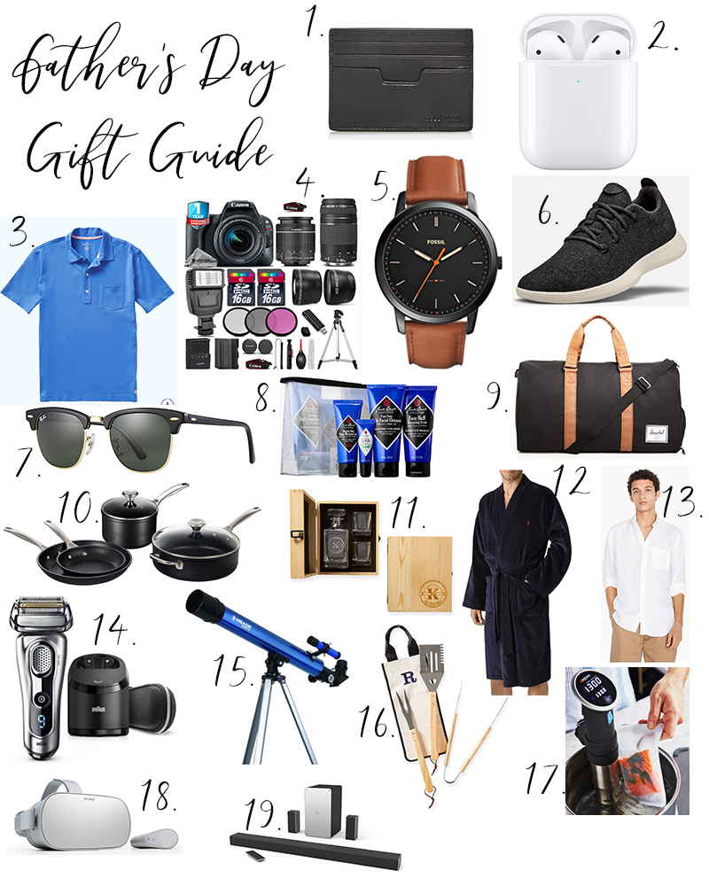 Father's Day Gift Guide 2019 | Best gifts to give your dad, grandfather, or anyone special in your life. All price points with many gifts under $100!