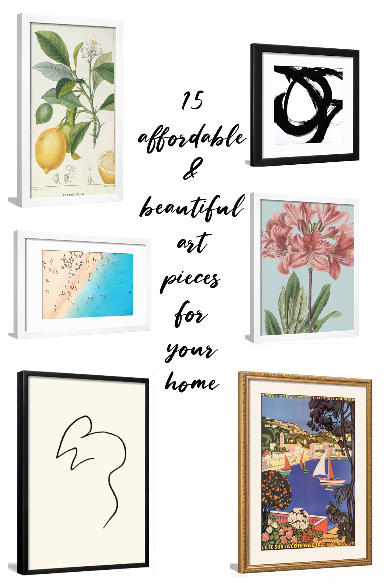 15 Stylish and Affordable Art Pieces For Your Home - Walmart has thousands of some of the prettiest prints, framed art, and more. I rounded up the best!