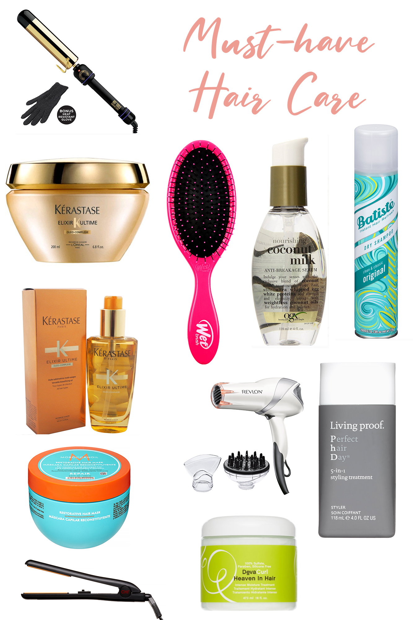 My Hair Care Must-Haves - Best of Beauty Products. I'm obsessed with hair & how to keep it looking fresh and healthy.. all of these are my fave hair tools!
