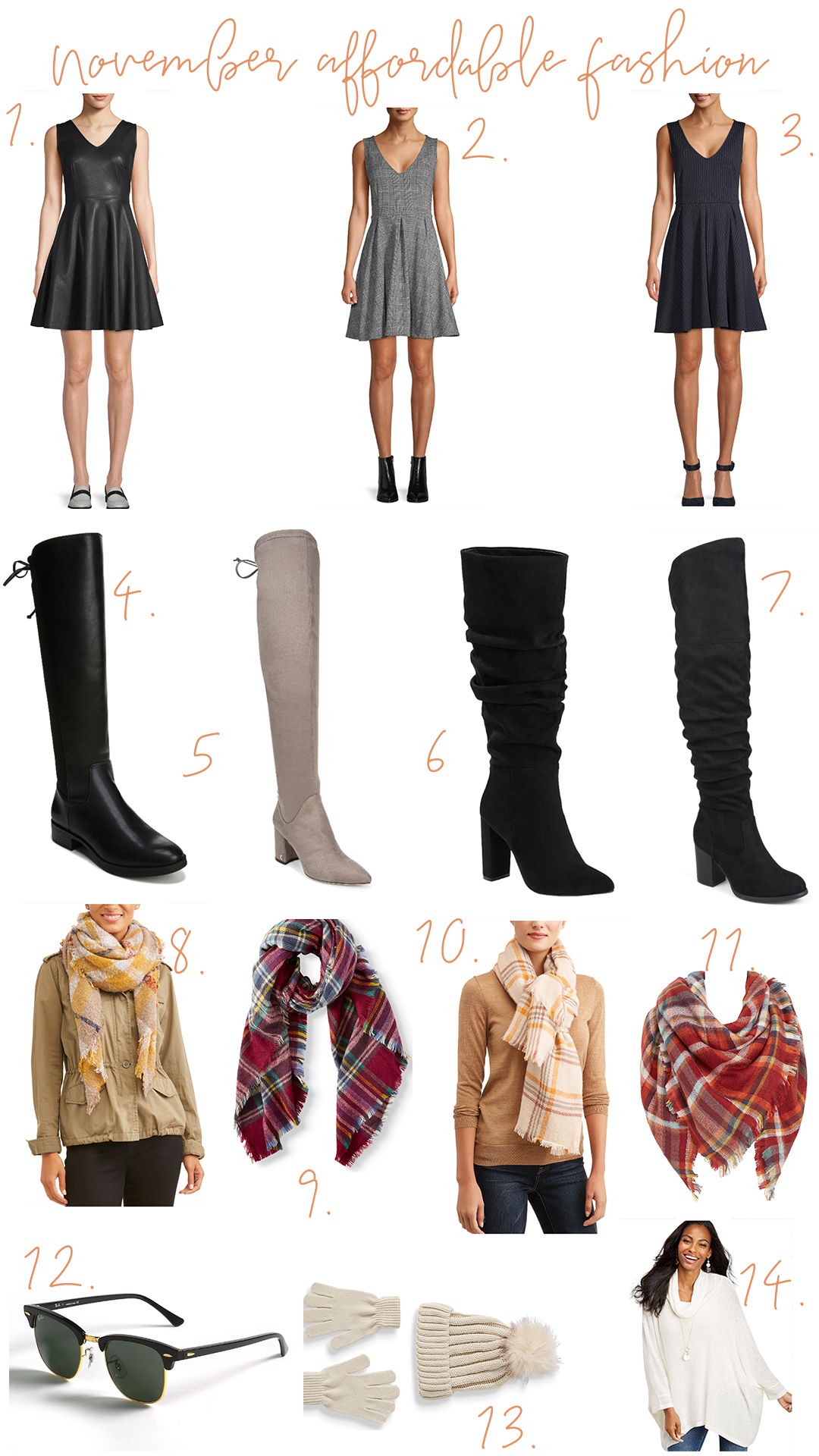 Faux Leather & Cozy Plaid For November - Loving these relaxed and fun looks for both day and night in the Fall/Winter transitional time.