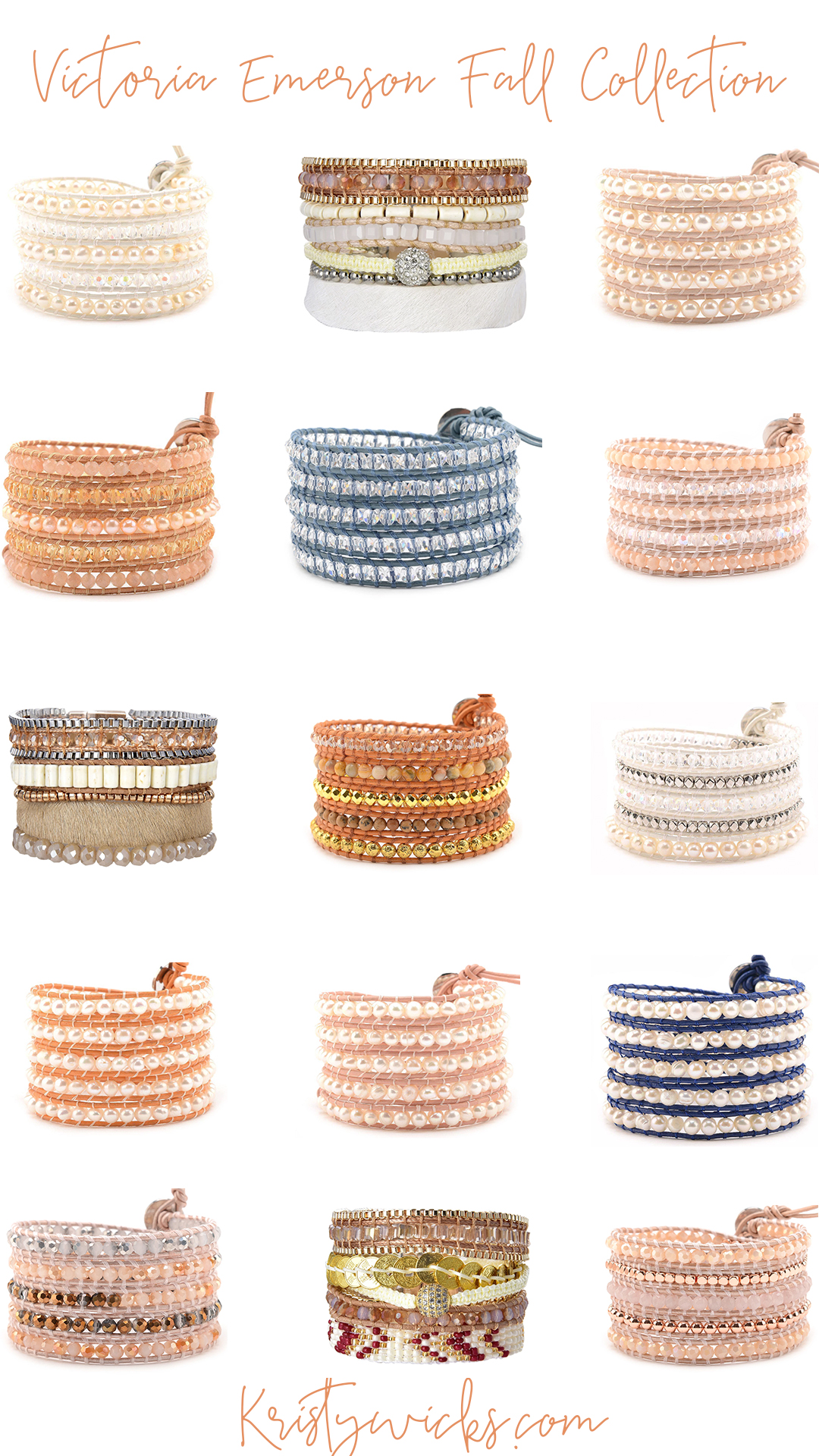 Victoria Emerson Wrap Bracelets on Sale - My favorite jewelry pieces are on 30% off right now.. their newest Fall collection is gorgeous!