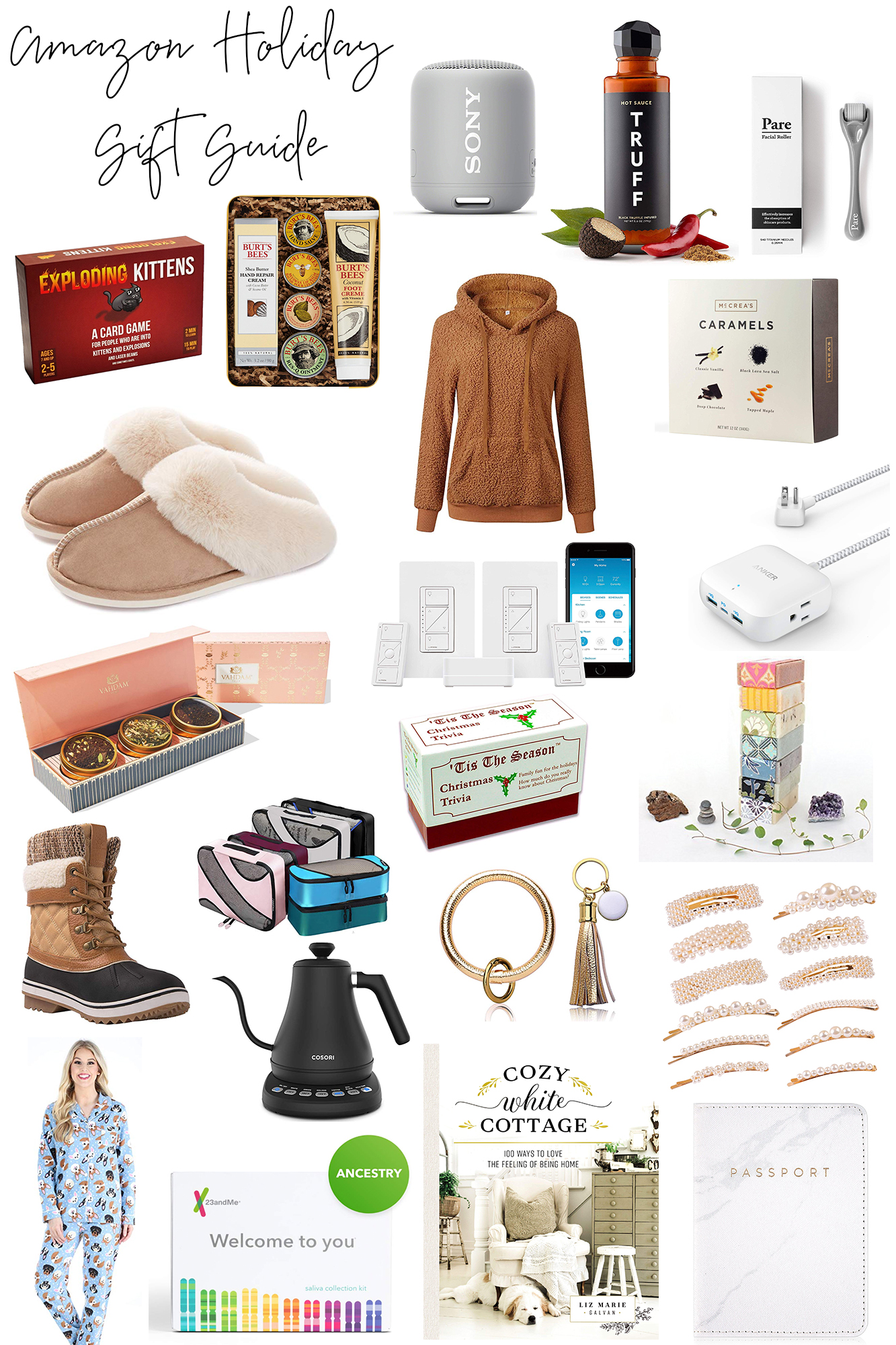 Amazon Christmas Gift Guide 2019 - The best holiday presents on Amazon for the holidays. SO many of these items are 2-day shipping & under $50.