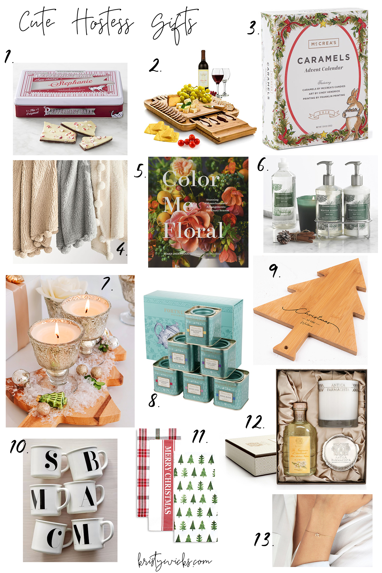 Best Hostess Gift Guide - Tons of holiday presents are the best price points.. classy and personalized gifts, under $15 gifts, and more!