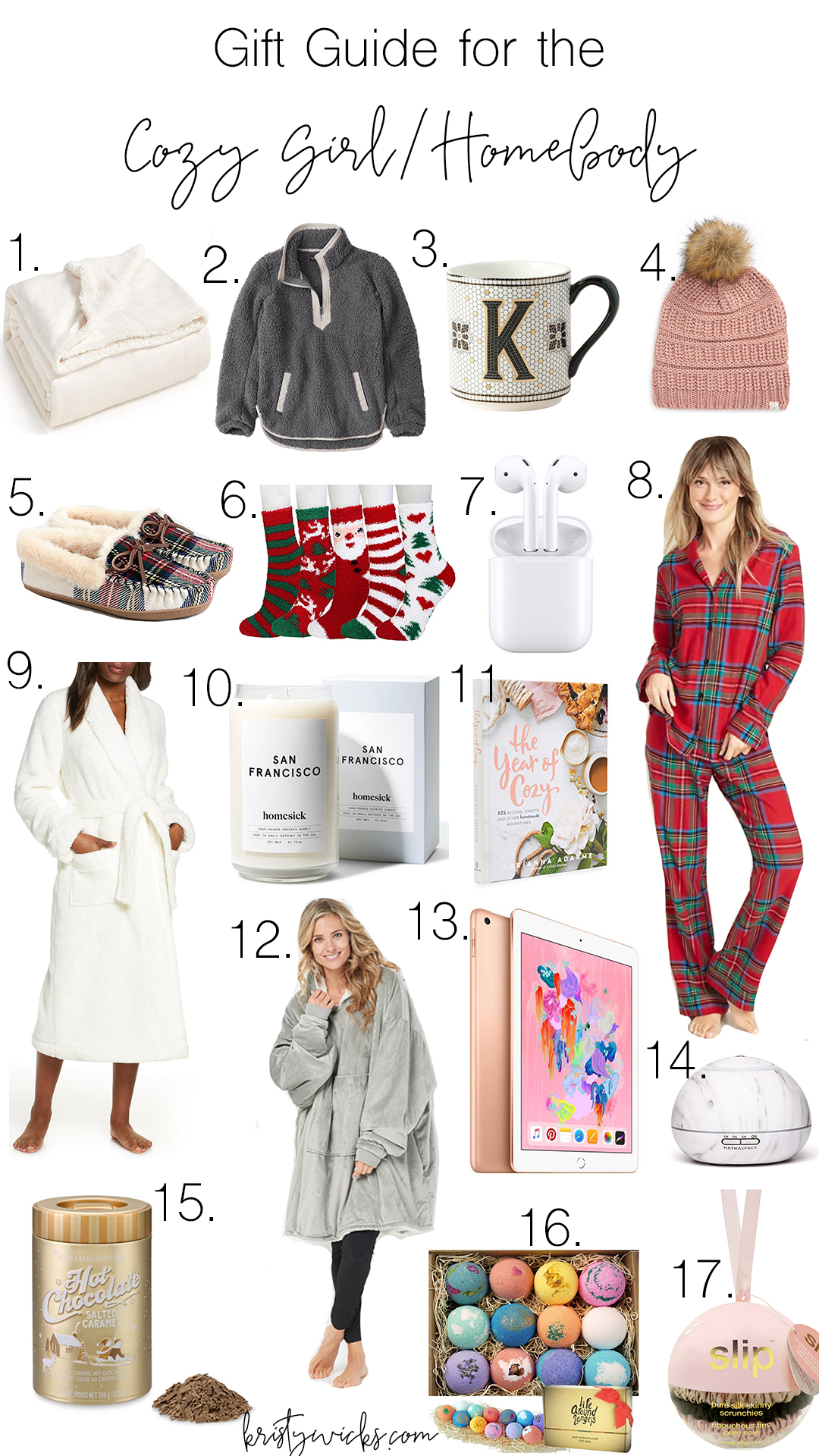 Best Christmas Gift Guide for everything cozy & relaxing at home! Every girl wants everything on this list.. all are affordable & perfect for the holidays