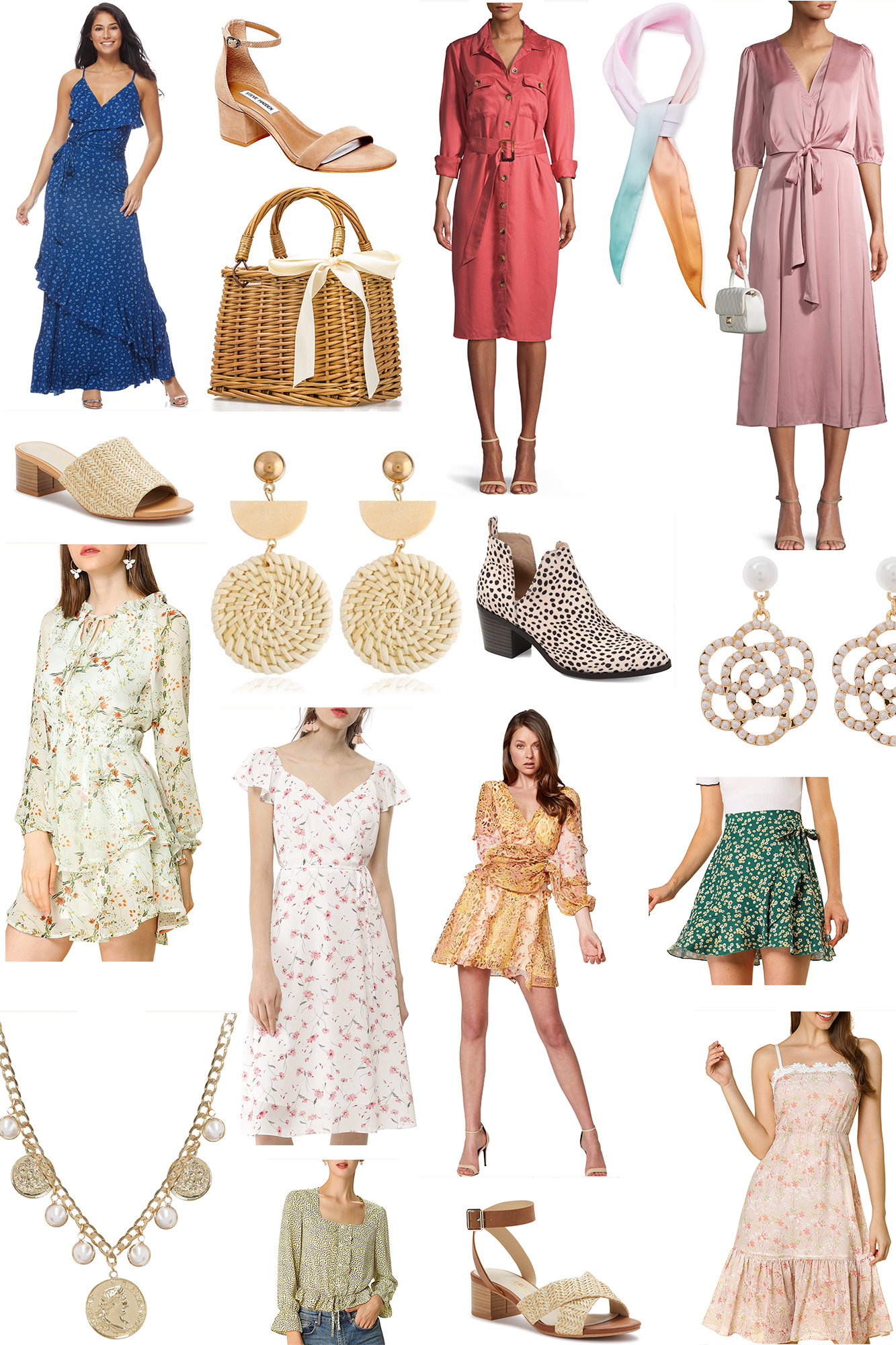 Floral & Feminine Spring Fashion Ideas || Rounded up all of the cutest Walmart affordable dresses and other looks for the warm weather!