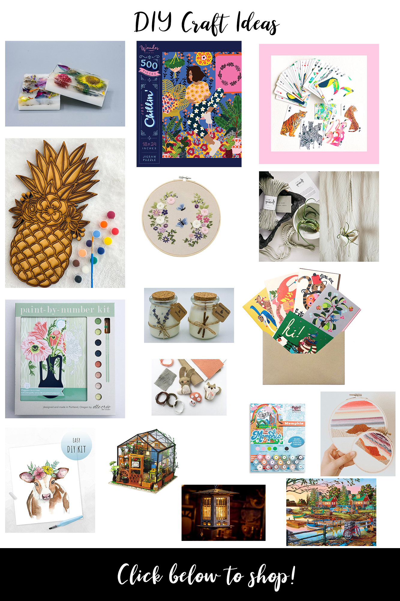 DIY Crafts to do while Self Distancing - Easy and affordable home activities that include quick shipping, USA made items while in quarantine.