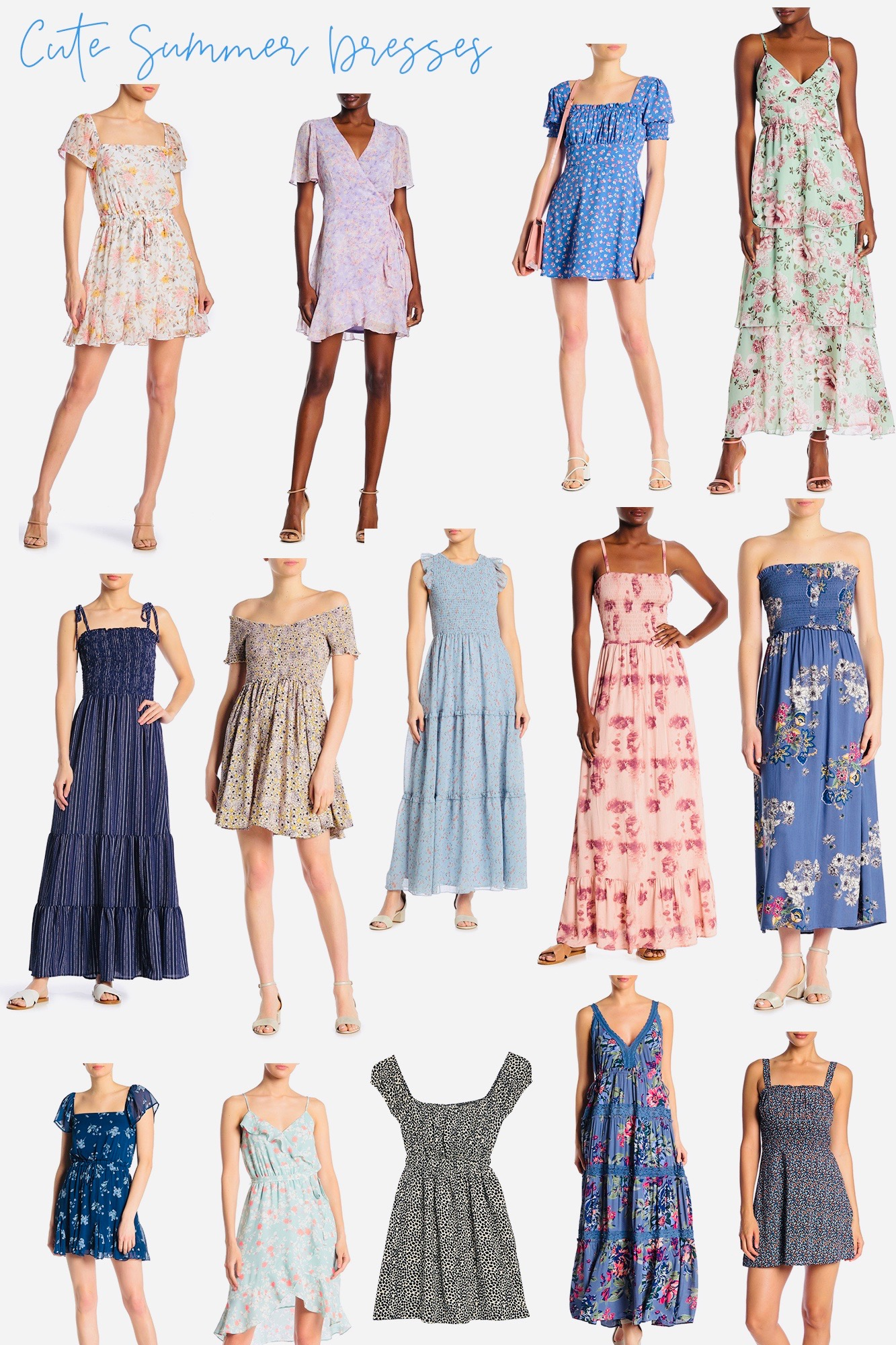 Affordable Summer Dresses I Love - All under $40-50! So many great styles that are chic, classy and fun for low price options.