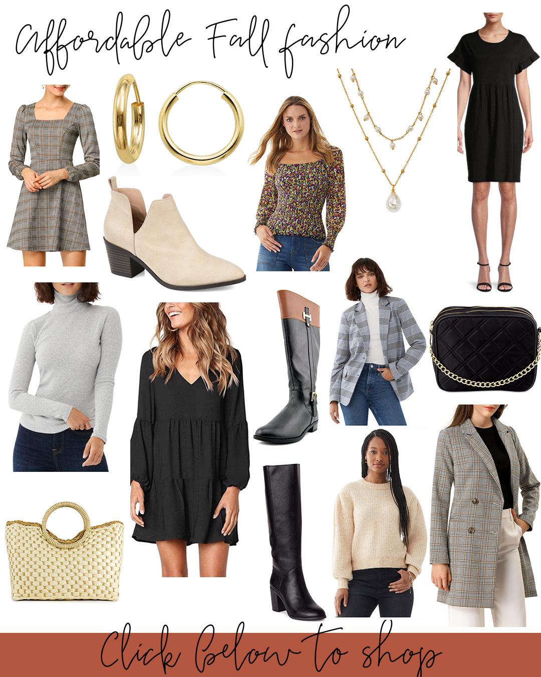 Affordable Fall Fashion 2020 - Little Black Dress Options. Dresses for under $15 and options for every budget. Accessories, booties, boots and more!