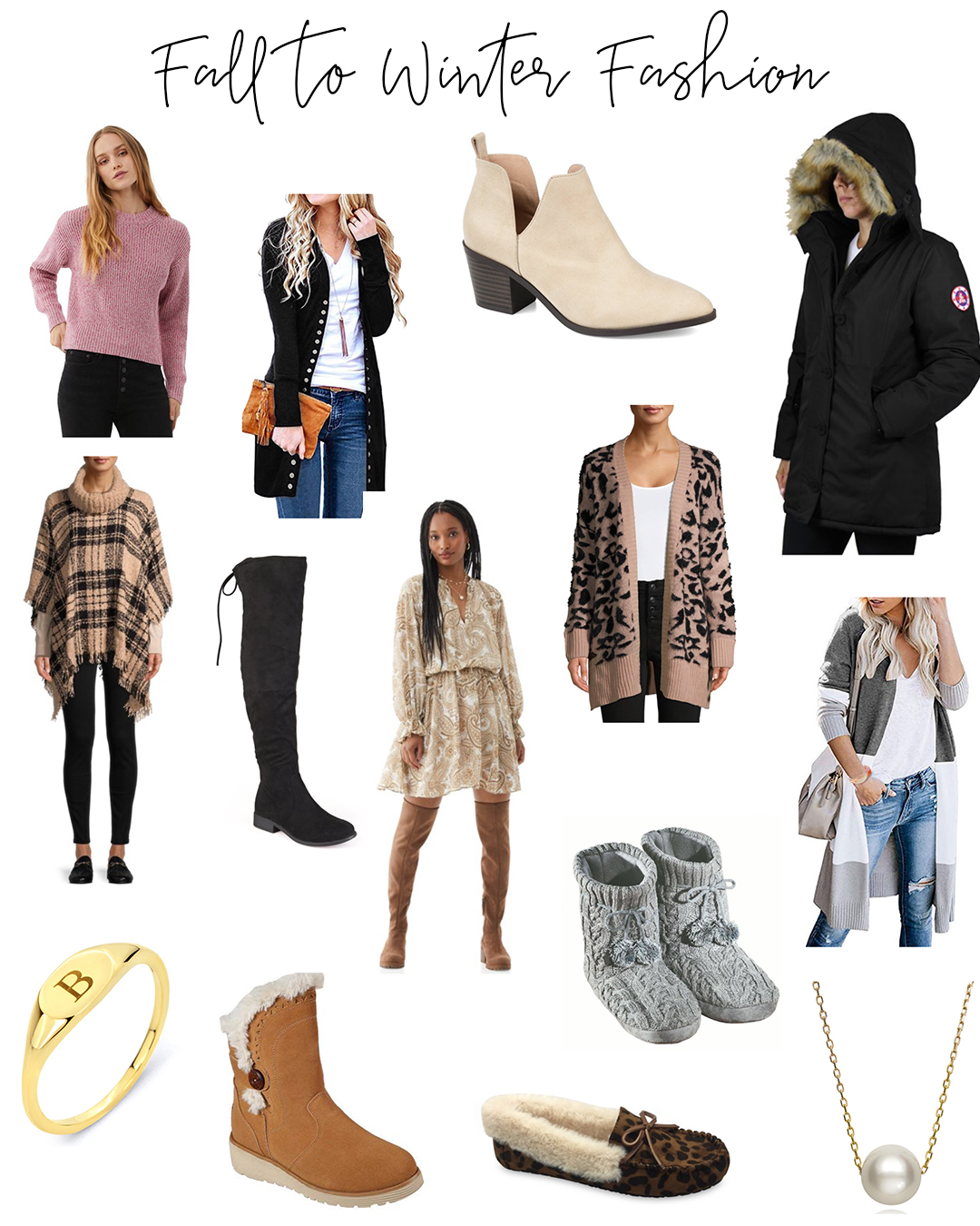 November & December 2020 Fashion Ideas - Affordable & Trendy Winter Wear to order as gifts or for youself. Jackets, accessories, tops and more!