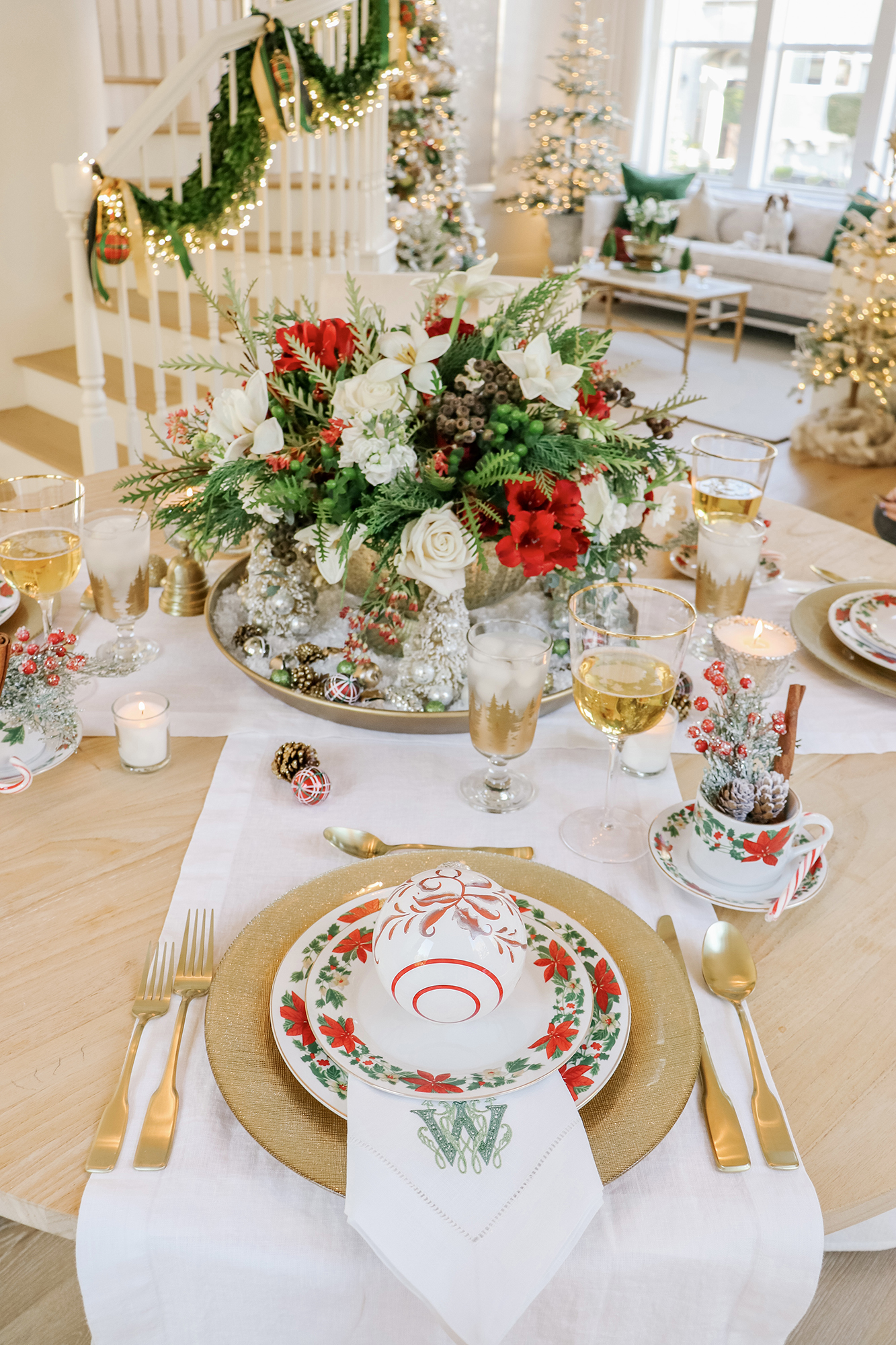 My 2020 Winter Tablescape with Vintage-Style Decor - Lovely decor pieces and affordable options at all price points, vintage christmas decor ideas