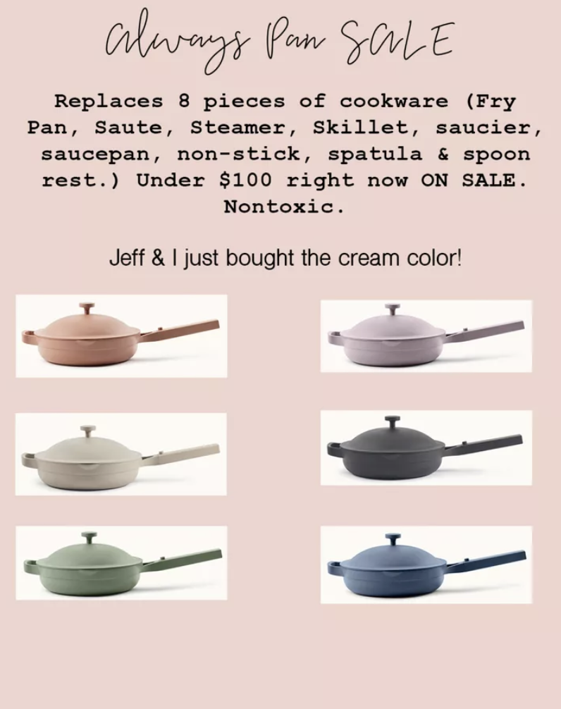 Jeff the Chef's Favorite Kitchen Gift - Always Pan Review from Our Place, on sale under $100 best kitchen gift for any cook