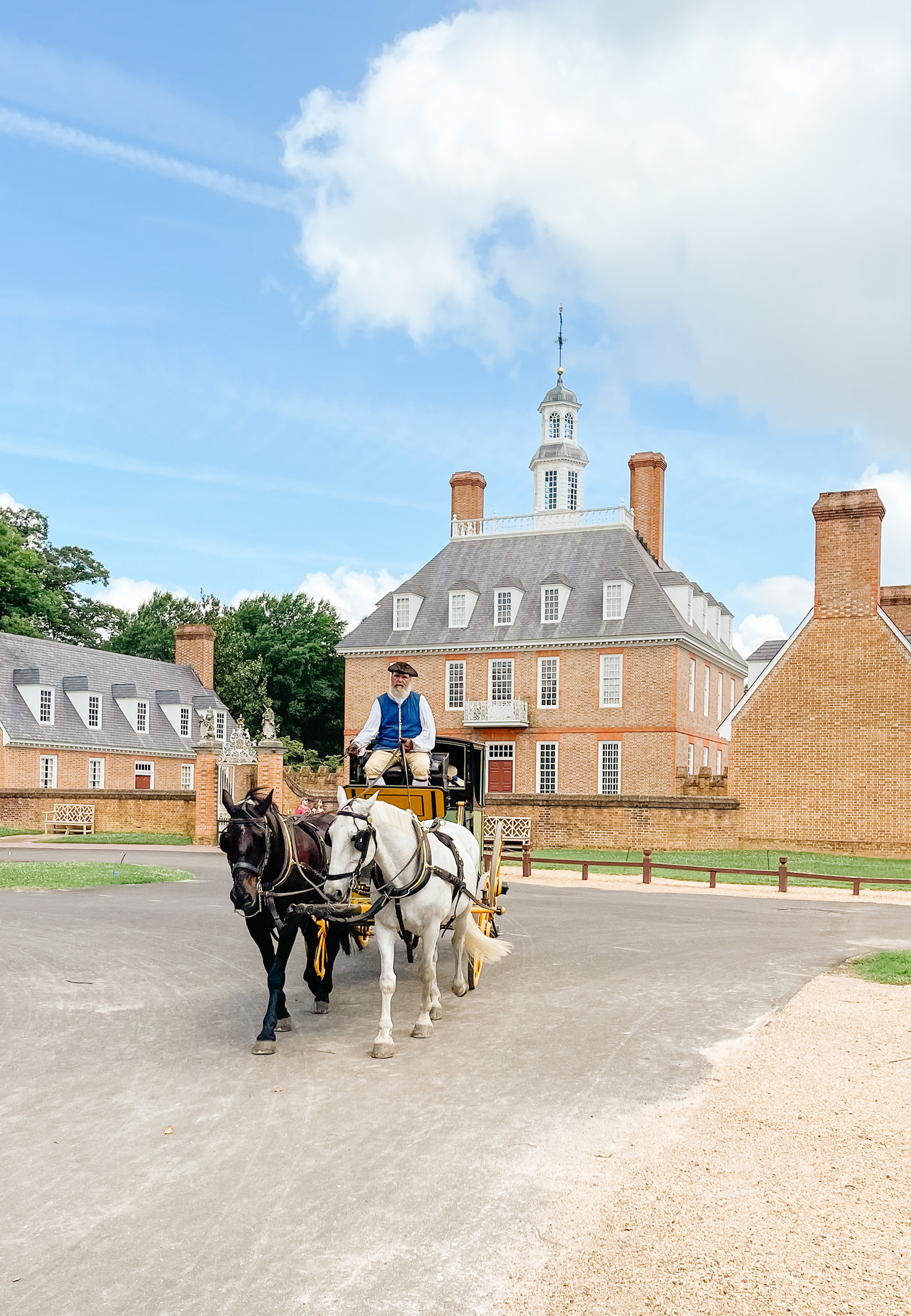 Horse and Buggy colonial Williamsburg